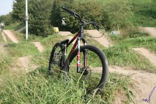 fiets in het gras